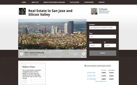 Screenshot of Home Page veridianrealty.com - Real Estate in San Jose and Silicon Valley | Concierge Service - captured Feb. 17, 2016