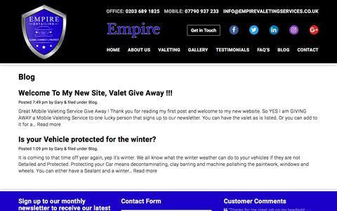 Screenshot of Blog empirevaletingservices.co.uk - Blog Archives | Empire Mobile Valeting Services - captured Aug. 3, 2017