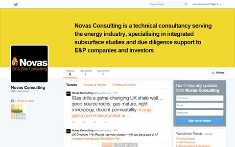 Screenshot of Twitter Page twitter.com - Novas Consulting (@NovasConsult) | Twitter - captured Nov. 5, 2014