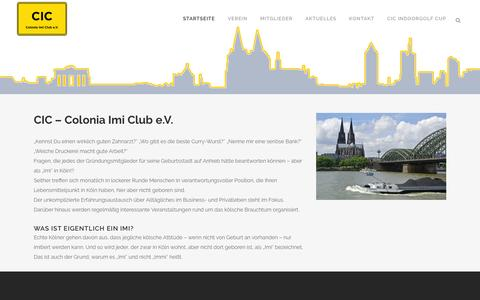 Screenshot of Home Page colonia-imi-club.de - Colonia Imi Club [ CIC ] | - captured June 9, 2016