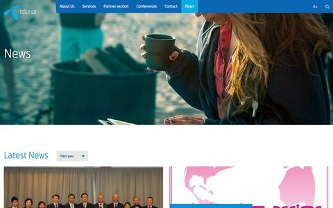 Screenshot of Press Page telenor.com - News – Telenor Wholesale - captured Nov. 29, 2016