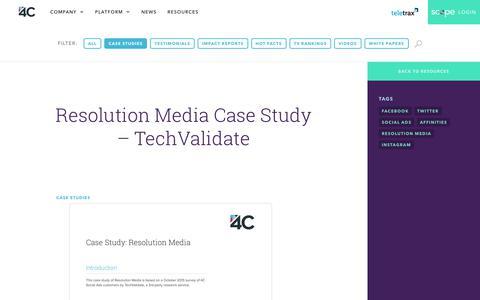 Screenshot of Case Studies Page 4cinsights.com - Case Study | 4C - captured Aug. 4, 2018