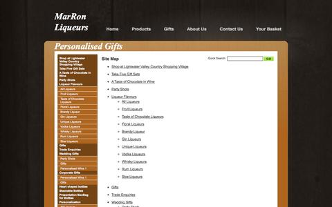 Screenshot of Site Map Page marronliqueurs.co.uk - Site Map - Marron Liqueurs - captured Oct. 27, 2014