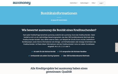 Bonitätsinformationen bei auxmoney