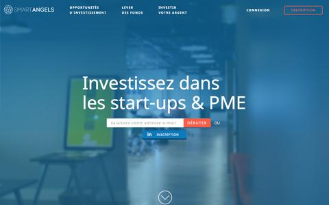 Screenshot of Home Page smartangels.fr - SmartAngels | Investissement PME en direct - captured Nov. 11, 2015