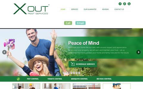 Screenshot of Home Page xoutpest.com - X Out Pest Services - Pest Control Company Austin TX   X Out Pest Services   512-271-5656 - captured Oct. 1, 2018