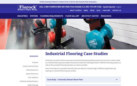 Screenshot of Case Studies Page florock.net - Resinous Flooring Case Studies | Florock Epoxy Concrete Systems - captured Oct. 10, 2018