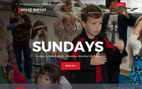Screenshot of Home Page gbcgraf.org - Grace Baptist Church – Grafenwoehr, Germany - captured March 22, 2017