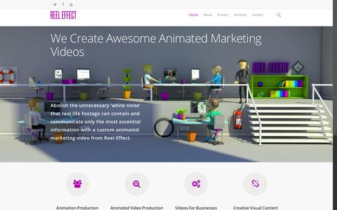 Screenshot of Home Page reeleffect.com - Animated Video Production | Marketing Videos for Businesses - captured Nov. 17, 2015