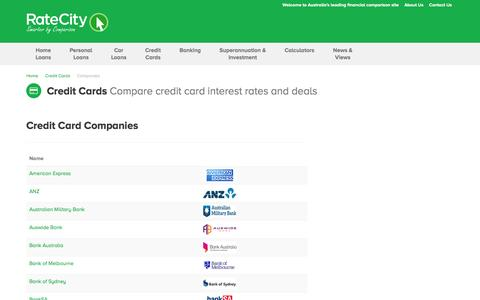 All Credit Card Companies on RateCity | HSBC & More | RateCity
