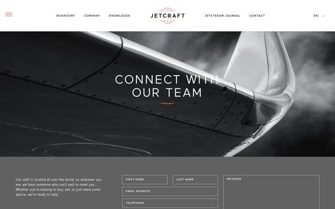 Screenshot of Contact Page jetcraft.com - Connect With Our Team Worldwide | Contact | Jetcraft - captured Aug. 7, 2016
