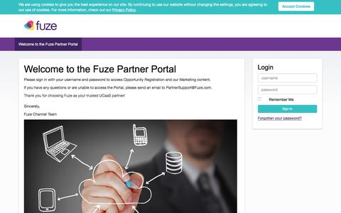 Partner Portal | Welcome to the Fuze Partner Portal