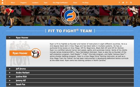 Screenshot of Team Page fit-to-fight.com - Team | Fit-to-Fight - captured Oct. 30, 2014