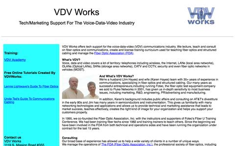 Screenshot of vdvworks.com - VDV Works Home Page - captured June 16, 2016