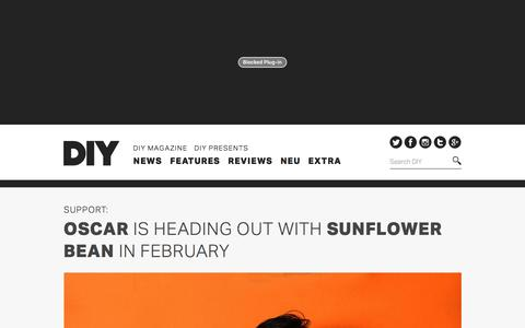 Screenshot of Support Page diymag.com - Oscar is heading out with Sunflower Bean in February | DIY - captured Jan. 27, 2016