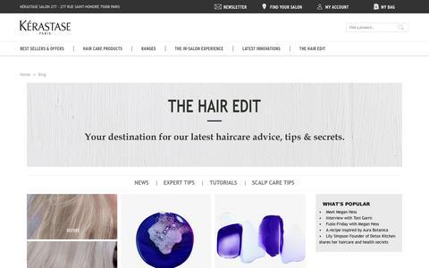 Screenshot of Blog kerastase.co.uk - The Hair Edit | The Kérastase Blog - captured Feb. 20, 2019