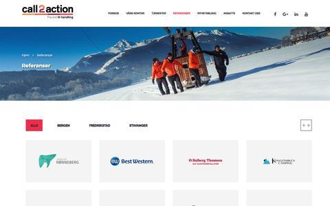 Referanser - Call2action Stavanger AS