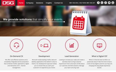 Screenshot of Home Page dsg.co.za - Digital Solutions Group - captured Feb. 9, 2016