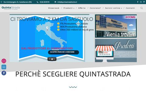 Screenshot of Home Page quintastradahome.it - Quinta Strada - Quinta Strada Ceramic Store - captured Sept. 30, 2018