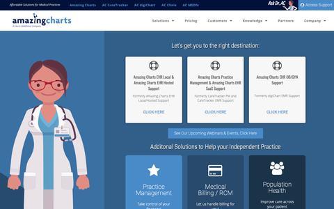 Screenshot of Support Page amazingcharts.com - Support | AmazingCharts - captured June 20, 2019