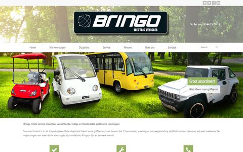 Screenshot of Home Page bringo.nl - Bringo Electric Vehicles - captured Oct. 5, 2014