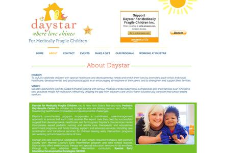 Screenshot of About Page daystarkids.org - Daystar Kids - Where Love Shines | ABOUT - captured Nov. 24, 2016
