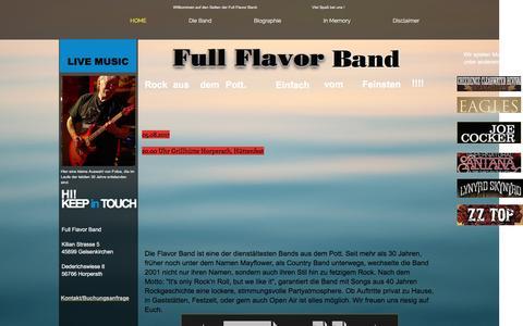 Screenshot of Home Page full-flavor.de - Full Flavor Band - captured April 1, 2017