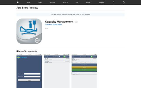 Capacity Management on the App Store