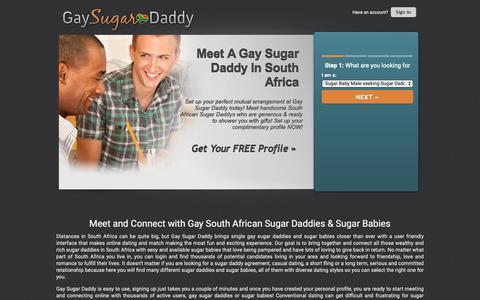 Screenshot of Home Page gaysugardaddy.co.za - Gay Sugar Daddy | Gay South African Sugar Daddies - captured Oct. 24, 2018