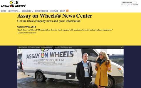 Screenshot of Press Page assayonwheels.com - Assay On Wheels - Press - captured Feb. 5, 2016