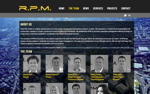 Screenshot of About Page realpm.co.uk - The Team | RPM - captured Oct. 7, 2014