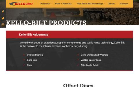 Screenshot of Products Page kello-bilt.com - Kello-Bilt Products   Kello-Bilt - captured Oct. 15, 2018
