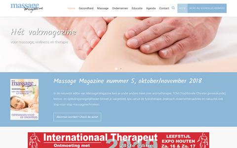 Screenshot of Home Page massage-magazine.nl - Home - Massage Magazine - captured Dec. 10, 2018