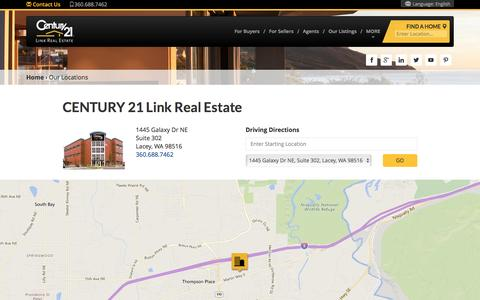 Screenshot of Locations Page century21.com - CENTURY 21 Link Real Estate Real Estate Office Locations - captured May 15, 2017
