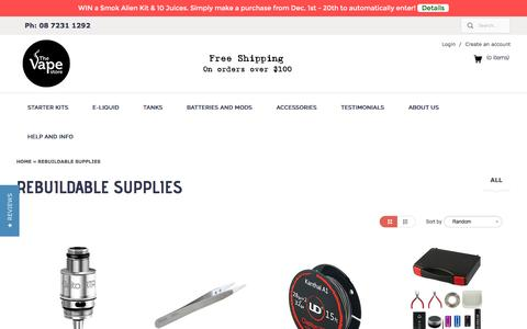 Rebuildable Supplies | The Vape Store