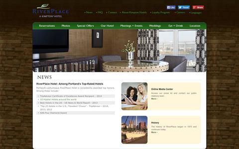 Screenshot of Press Page riverplacehotel.com - RiverPlace Hotel News | Kimpton Hotels & Restaurants - captured Oct. 6, 2014