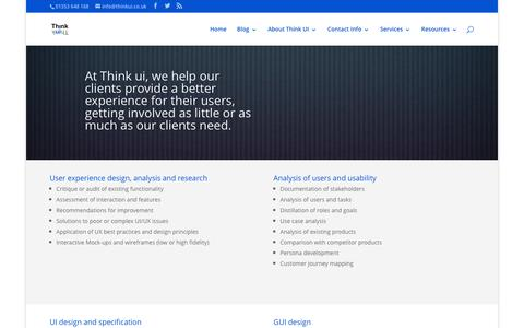 Screenshot of Services Page thinkui.co.uk - Our Services | Think ui Ltd - captured Feb. 29, 2016