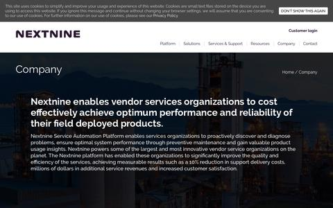 Screenshot of About Page nextnine.com - Company - Nextnine - captured July 13, 2018
