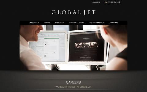 Screenshot of Jobs Page globaljetconcept.com - Global Jet Concept | Careers : Work with the best at Global Jet | globaljetconcept.com - captured Sept. 30, 2014