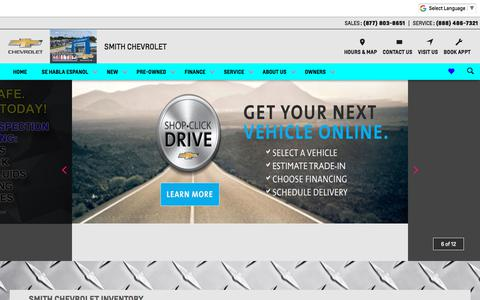 Screenshot of Home Page smithchevyusa.com - Smith Chevrolet in Hammond, IN   East Chicago, Griffith & Highland Chevrolet Dealer Alternative - captured July 3, 2018