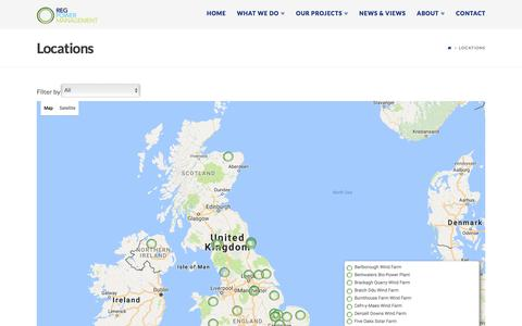 Screenshot of Locations Page regpower.co.uk - Locations | REG Power Management - captured Dec. 16, 2016