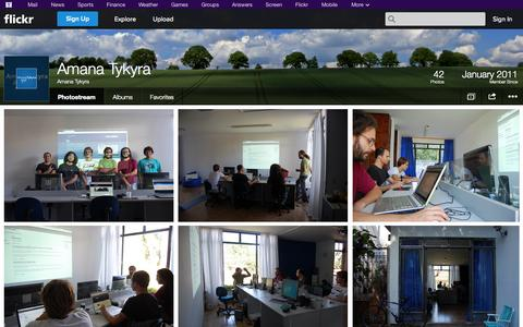 Screenshot of Flickr Page flickr.com - Flickr: Amana Tykyra's Photostream - captured Oct. 23, 2014