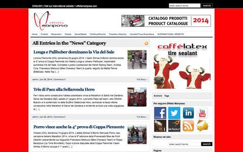 Screenshot of Press Page effettomariposa.eu - News  : Effetto Mariposa - captured Oct. 2, 2014