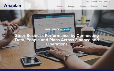 Enterprise Financial Planning Solution | Anaplan