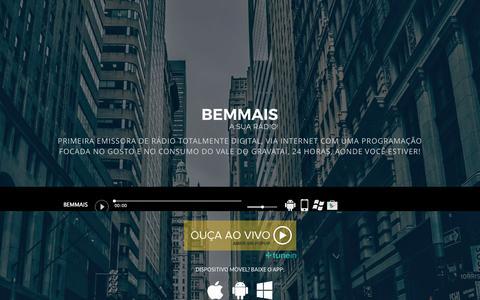 Screenshot of Home Page radiobemmais.com.br - Rádio Bem Mais | Gravataí, Cachoeirinha e Glorinha | Vale do Gravataí | GPCCOM - captured May 4, 2017