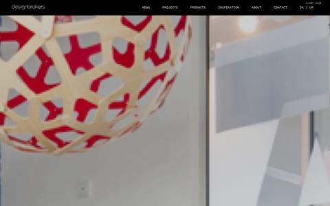 Screenshot of Home Page designbrokers.com - Designbrokers - captured Oct. 5, 2014