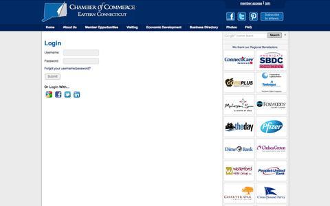 Screenshot of Login Page chamberect.com - Login - ChamberECT - cm - captured Nov. 1, 2014