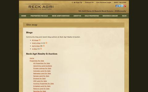 Screenshot of Site Map Page reckagri.com - Site map | Reck Agri Realty & Auction - captured Oct. 26, 2014