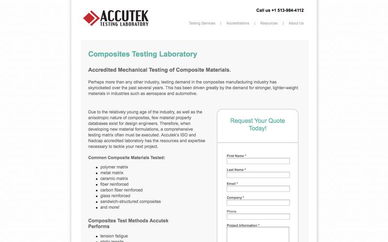 Composite Materials Testing | Accutek Testing Laboratory