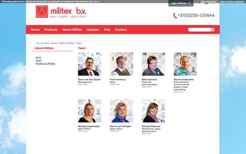 Screenshot of Team Page militex.nl - Team - Militex.nl - captured Oct. 27, 2014
